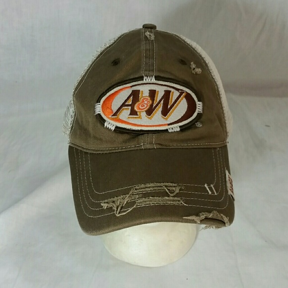 52d5b7863a4 A W Other - A W Root Beer Hat Distressed Floppy Snapback Cap